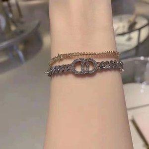Di Family Hain Letter Set Zircon Temperament Hand Decoration Five Pointed Star Multi Element Fashion Bracelet