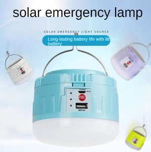 LED Solar Lamp Camping Light USB Rechargeable Bulb Outdoor Tent Lamps Portable Lanterns Emergency Lights For BBQ Hiking