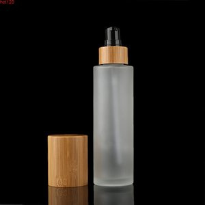 1oz Frosted Clear Bottle 30ml 100ml Bamboo Bottles with Lotion Spray Cap Sample Skin Care Cream Cosmetics Containergoods