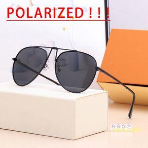 Luxurys Designers Sunglasses for Women and men pilot aviator grease clockwise canvas 6602 fashion driving polarized lenses personality trendy full frame elegant