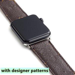 Band Band Brap для Apple Series 1 2 3 4 5 6 38 мм 40 мм 42 мм 44 мм PU Кожаные умные часы замена с разъемом адаптера