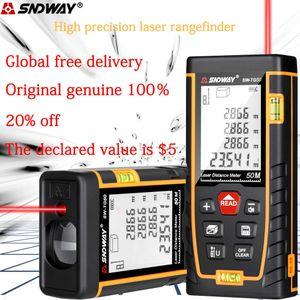 SNDWAY laser distance meter 40M 60M 80M 100M 120M rangefinder trena laser tape range finder build ure device ruler test tool 210719