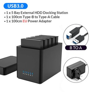 Hard Drive Docking Station 2 5 Bay USB3.0 Type-C 3.5 Inch HDD Enclosure With 12V Power Aadapter Magnetic Technology