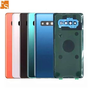 50PCS Battery Door Back Housing Cover Glass Cover for Samsung Galaxy S10 S10 Plus S10e with Adhesive Sticker free DHL UPS FEDEX