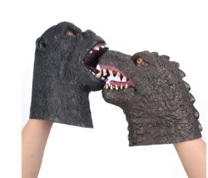 Godzilla vs. Vajra latex mask head cover puppet toy