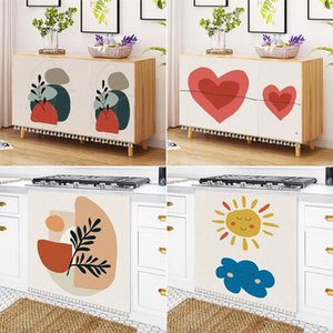 Curtain & Drapes Short For Kitchen Cabinet Dustproof Cover Cartoon Cafe Partition Half-Curtains With Tassels Wardrobe Decorative