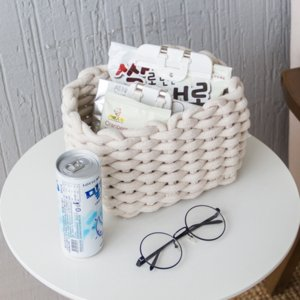 30CM Thick Cotton Rope Storage Box Hand-woven Kids Toys Cosmetic Desktop Organizer Sundries Woven Basket Laundry Baskets