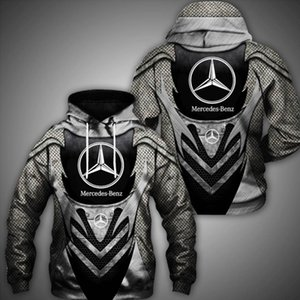 Merced-Benz2021 autumn winter new men's sweater loose and comfortable hoodie 3D printed casual fashion versatile pullover.