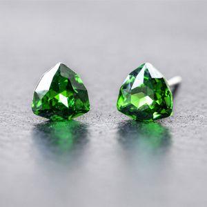 Charm triangle Swarovski element Crystal 925 Sterling Silver anti allergy Earrings Austrian C