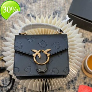 backpack Bag Women's 2021 New p Family Pin Messenger Handbag Shoulder Head Leather Embossed Version