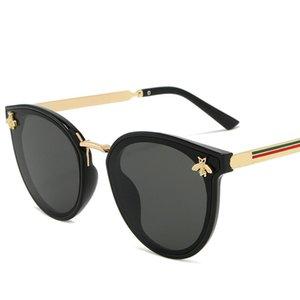 Luxusbiene Mode für Frauen Sonnenbrille Männer Runde Marke Designer Sonnenbrille Oculos Retro Männchen Eisen