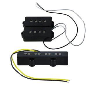 Alnico 5 PB Bass Neck Bridge Pickup & JB Bass Bridge Pickup for 4 String Bass Parts