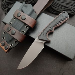 2021 Nimo Knives Miller Brous Blade M27 Style Heavy Duty EDC Tactical Combat Survival Camping Sports Tools Fixed Knife With Genuine Leather Sheath Scabbard Tools