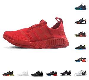 top quality Dazzle camo nmd r1 v2 mens running shoes core black white mexico city oreo og classic aqua tones men women outdoor trainer sneakers