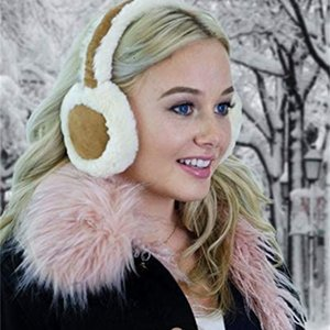 ALZO Bluetooth Earmuff Headphones Fashion Accessory Cream-Caramel Quality Music or Phone with Built-in Mic - Up to 8 Hrs of Play Talk