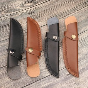 Tool Bag Straight Blade Sheath with Opening Above for Belt Knife Holder Leather Cover Camp Outdoor Tools Holster RH4150