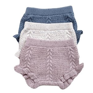 Shorts Toddler Boys Girls Triangle Bottoms Solid Color Lovely Causal Bloomers Knitted Cotton Kids