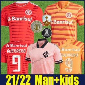 SC Uluslararası Futbol Formaları Adam Kids 2021 2022 Outubro Rosa Özel Gömlek Edenilson V.cuest Guerrero D'Alessandro Futbol Forması Camisa de Internacional 21/22