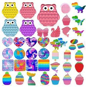 DHL Push Push Bubble Party Fidget Toy Stress Stress Sensorial Jouets Sensoriat Soulagement de l'anxiété pour enfants Cadeaux d'anniversaire Ba21