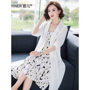 Yin'er Женский внутренний солнцезащитный крем 2021 с длинным рукавом среднее тонкое пальто шифон кардиган с шалью куртки