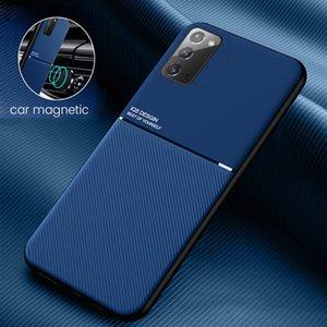 Телефон Кожаный чехол для Samsung Galaxy S21 S20 FE Примечание 9 10 20 S20 Ультра S10 S9 S8 PLUS S10E Магнитная автомобильная плита Телефон Сумки Чехол