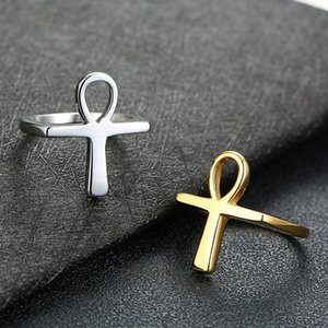 Ankh Ring Size 7-12 Egyptian Cross Key of the Nile Men Women Gift Classic Africa Egypt Jewelry Stainless Steel Rings 1640 T2