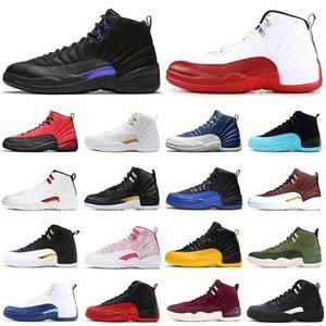 12s الرجال أحذية كرة السلة jumpman 12 الظلام كونكورد إنديجو تويست عكس الانفلونزا لعبة تاكسي الملكي سيد الشتاء wntr رجل المدربين الرياضة