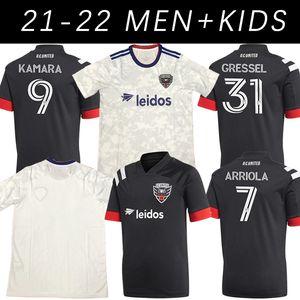 2021 Black Home Soccer Jersey 20 21 Uniformes sur mesure Washington DC United MLS T-shirt de football Wayne Rooney Ola Kamara Paul Arriola Asad Frederic T-shirt