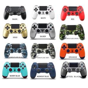 Handheld Bluetooth Wireless Controller without Logo 22 Colors Colorful Joystick Video Game Gamepad for Sony PS4 Play Station