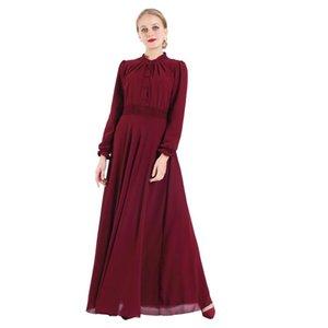 Повседневные платья Wepple Ramadan Turkish Robe Islamc Одежда с длинным рукавом мусульманское платье Арабская Будай эластичная абая высокая талия кимоно наряд