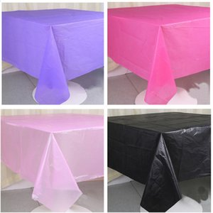 Disposable Pure Color Tablecloth 137*183cm Solid Color Table Cloth Birthday Party Wedding Decor Plastic Tablecloths Christmas