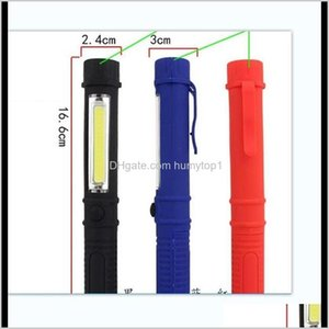 Flashlights Torches And Camping Hiking Sports Outdoors Drop Delivery 2021 Wholesale Mini Pen Multifunction Led Light Handle Cob Work Hand Tor