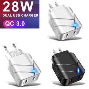 28W QC 3.0 Fast Charger with Dual USB Port 3A Quick Charge For iPhone Samsung wholesale