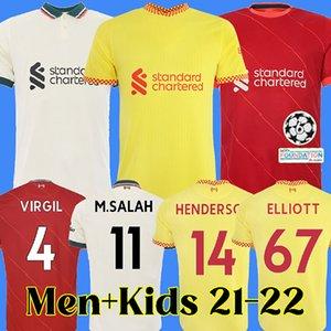 21 22 Liverpool Soccer Jerseys SALAH FIRMINO THIAGO KONATE LVP Football Shirt 2021 2022 VIRGIL Diogo Jota MANE KEITA JONES Thailand quality Men + Kids Kits 123