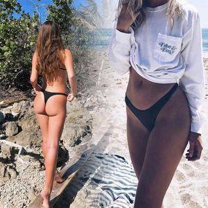 Two-piece Suits Micendy Brazilian Black Bottom Thong V Swimsuits Bikini T-Back Swimwear Swim Shorts Beach Pants Hipster Briefs Wear