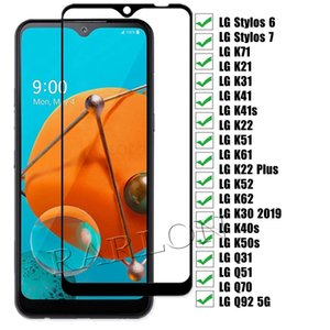 9H Tempered Glass Screen Protector for iPhone 12 Pro MAX LG Stylo 7 6 K31 K71 K41S K42 K51 K61 K22 K50S Q31 Q51 Q70 Q92 5G HARMONY 4 LXPRESSION PLUS 3 W31 W41