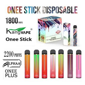 Kangvape Onee Stick Alphaa Plus Descartável Vape Pen Kit 1100mAh 1800 1900 2200 Puffs 6.2ml Cartucho POD Bang XXL Barra Air Max