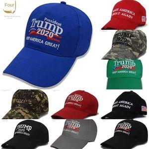 14caU Camouflage Donald Trump hatFlag baseball cap Keep America Great 2020 Hat 3D Star Embroidery Letter Camo adjustable Snap back