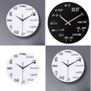 Acrylic Math Wall Clock Fashion Not-Ticking Mute Wall Clock Modern Design Equation for Home Office School Watch1 662 S2