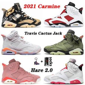 retro 6 6s travis scott Top qualité Hommes Chaussures de basket-6 6s Hare Travis jean délavé JUMPMAN FLORAL Baskets femme Baskets 36-47