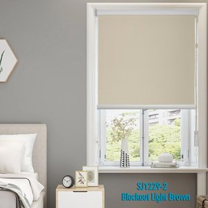 Blinds Beige Blockout Quality Roller Shades For Windows Beads Cord Shutters Livingroom Bedroom Kitchen Made To Measure