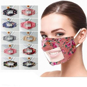 Transparent Mouth Cover Visible Expression Clear Window Protection Faceshield Dustproof Respirator Smile Face Maks Sea Shipping DDA447