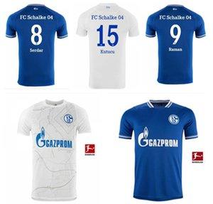 2021 fãs Versão Huntelaar Jerseys de futebol Kutucu 21 22 Serdar FC Schalke 04 Harit Homens Football Shirts Ozan Home Azul Branco Jersey