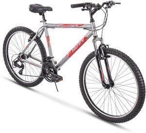 Huffy Hardtail Mountain Trail Bike 24 inch, 26 inch, 27.5 inch, 26 inch wheels 20 inch frame Gloss Nickel
