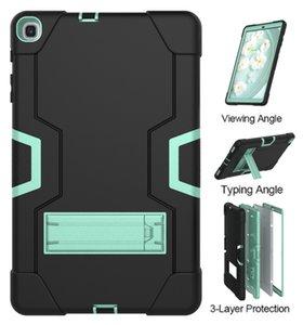 Tablet Capazes para Samsung Tab S5E T720 / T725 Aba A 10.1 T515 / T510 (2019) com Funções Kickstand Proteção da câmera Capa à prova de choque
