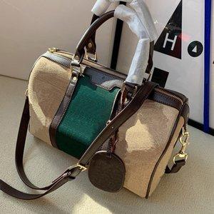 Menwomen Totes Handbag Designer Retro letra Impresión Boston Bolsas de almohada Moda Diagonal Diagonal Bolsa de viaje de un hombro WF2104092