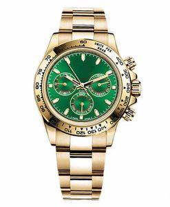 Смотреть, Мастер дизайн, мужской спортивный стиль, автоматическое движение, золотой корпус из нержавеющей стали, зеленый циферблат, кнопка складной