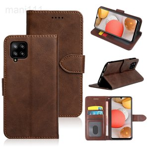 Suitable for Samsung A12 S21 plus   Ultra calfskin mobile phone leather case a71a51 business model