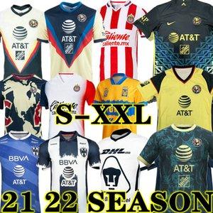 Novo 20 21 Club América Futebol Jerseys 2020 2021 Xolos de Tijuana Tigres Unam Guadalajara Chivas Cruz Azul Jersey Camisas de futebol