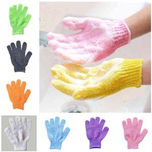 Fast five fingers bath gloves scrub mitt magic glove exfoliating 9 colors ICJ2